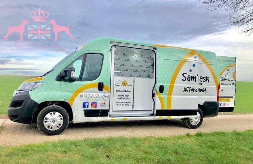 Our newly branded mobile grooming vans